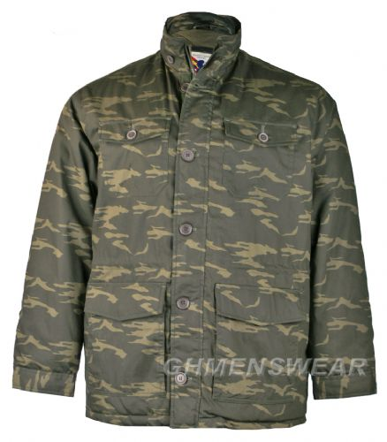 Espionage Military Style Camo Coat